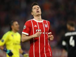 Robert Lewandowski erwischte keinen guten Tag im Halbfinal-Hinspiel gegen Madrid