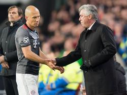 Arjen Robben war nach seiner Auswechslung enttäuscht