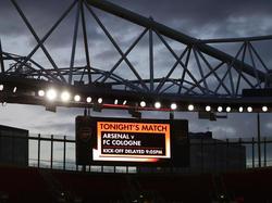 Die Partie zwischen Arsenal und dem 1. FC Köln wurde verspätet angepfiffen