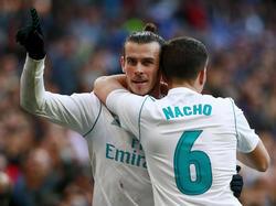 Bale y Nacho hicieron doblete junto a Cristiano Ronaldo. (Foto: Getty)