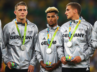 Die Freude über die Silber-Medaille war zuerst verhalten, später feierten aber alle ausgelassen