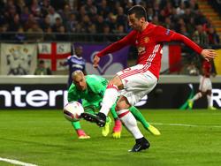 Henrikh Mkhitaryan traf für United zum 1:0