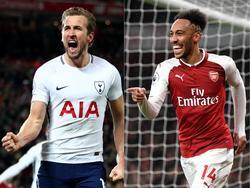 Harry Kane (l.) und Pierre-Emerick Aubameyang treffen am Samstag in der Premier League aufeinander