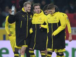 Endlich gemeinsam auf dem Platz: André Schürrle, Mario Götze und Marco Reus
