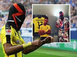 BVB-Stürmer Aubameyang hat sich auf Instagram (Bild rechts) gezeigt