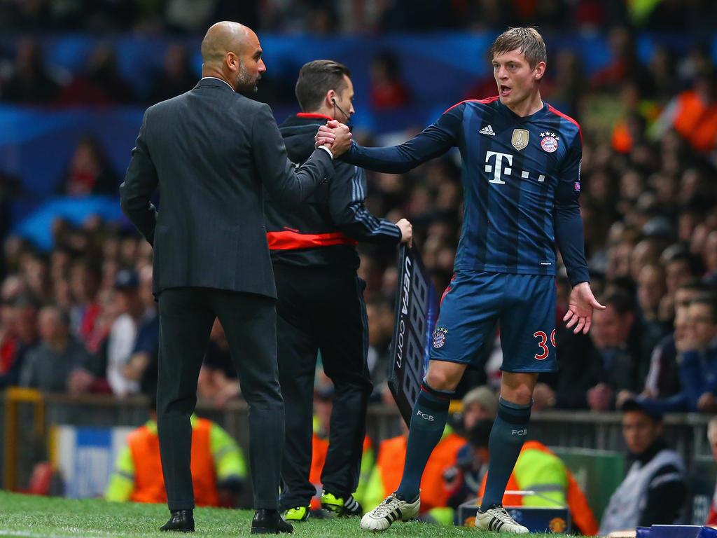 Pep Guardiola und Toni Kroos kennen sich aus ihrer Zeit beim FC Bayern
