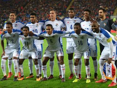 Once de Panamá en el estadio de Cardiff. (Foto: Imago)