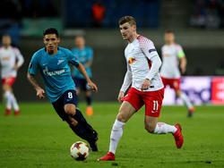 Timo Werner war Matchwinner für RB Leipzig gegen Zenit
