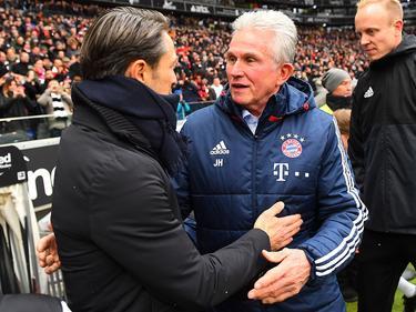 Heynckes saluda a su supuesto sucesor en el banquillo del Bayern. (Foto: Getty)