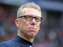 Peter Stöger hofft beim Spiel gegen den FC Bayern die Heimserie verlängern zu können