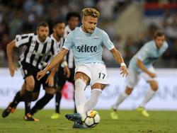 Doppelpacker Ciro Immobile war für Lazio Rom zur Stelle
