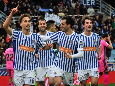 Canales anotó el tercer gol de la Real Sociedad. (Foto: Imago)
