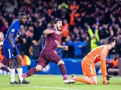 Suárez festeja su tanto de la ida en el feudo londinense. (Foto: Getty)