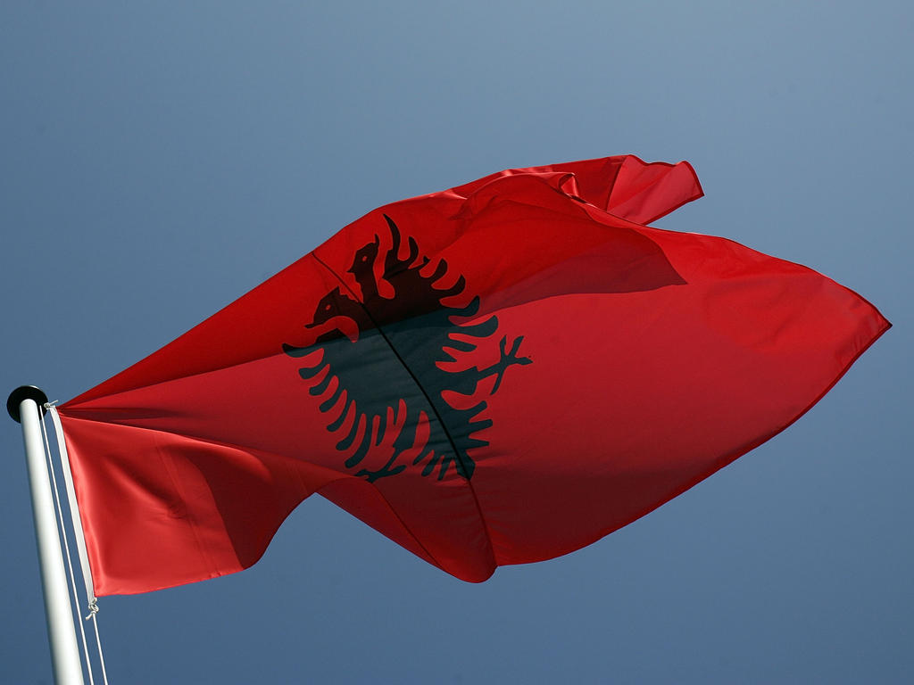 Bandera Albania. Best Albania Flag Combined With France Flag Stock ...