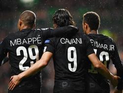 El nuevo tridente del PSG marcó todos los goles del equipo francés. (Foto: Getty)