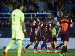 Der FC Barcelona bejubelt auch in Málaga einen Sieg