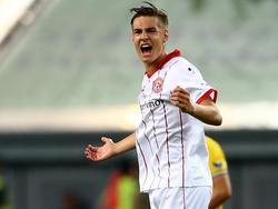 Florian Neuhaus jubelte über seinen Treffer gegen Kaiserslautern