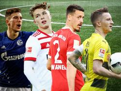 Players to watch (v.l.): Leon Goretzka, Fiete Arp, Sandro Wagner, Marco Reus