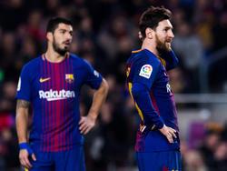 Messi y Suárez no encontraton los medios para superar la defensa de Las Palmas. (Foto: Getty)