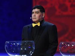 Fand erst über Umwege zu seinem Platz beimWM-Eröffnungsspiel: Diego Maradona