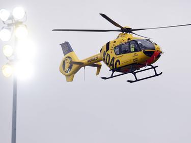 Ein Hubschrauber musste den Fan ins Krankenhaus bringen