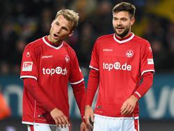 Sebastian Andersson (l.) traf für den FCK zum Ausgleich
