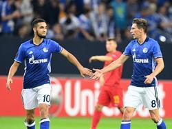 Potenzial für den FC Bayern München? Nabil Bentaleb (l.) und Leon Goretzka