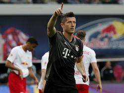 Robert Lewandowski und der FC Bayern setzten sich im Topspiel gegen Leipzig durch