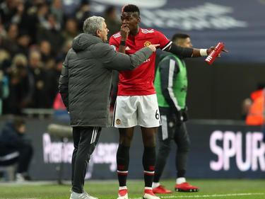 Nicht einer Meinung: José Mourinho (l.) und Paul Pogba
