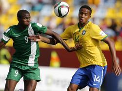 Eder Militao (r.) ist brasilianischer U-Nationalspieler