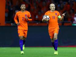 Mann des Abends: Erst traf Arjen Robben doppelt, dann beendete er seine Karriere in der Elftal