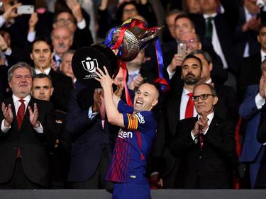Andrés Iniesta gewann mit Barcelona die Copa del Rey