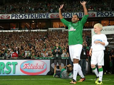 Beim Abschiedsspiel seines Ex-Kollegen Torsten Frings lief Ailton noch einmal für Werder Bremen auf
