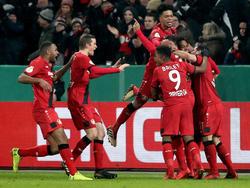 Grenzenloser Jubel in Leverkusen - die Werkself erreicht die Runde der letzten Acht