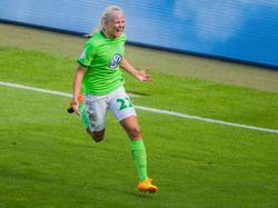 Wolfsburgs Pernille Harder schoss das 1:0 gegen Freiburg