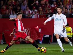 Pablo Maffeo con el Girona contra el Real Madrid. (Foto: Getty)