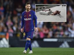 Die Statue von Lionel Messi ist erneut zerstört worden