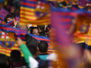 Zahlreiche Fans säumten die Straßen in Barcelona