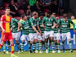De Rotterdammers komen op 0-1 en zijn daarmee virtueel veilig in de Eredivisie. (14-05-2017)