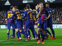 Jordi Alba empató contra su exequipo en el minuto 82. (Foto: Getty)