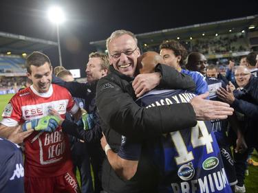 Ein Bild aus glücklichen Tagen: Jean-Marc Furlan ist nicht mehr Trainer in Troyes