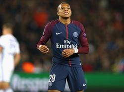 Kylian Mbappé musste gegen Marseille zur Pause ausgewechselt werden