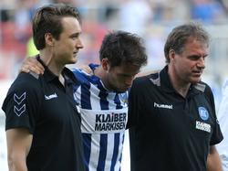 Sascha Traut vom Karlsruher SC musste gegen Heidenheim verletzungsbedingt ausgewechselt werden