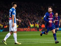 Messi marcó el segundo gol contra el Espanyol. (Foto: Getty)