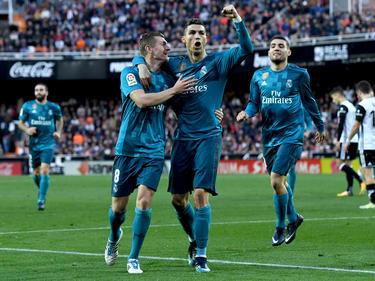 Cristiano Ronaldo (m.) brachte Real Madrid mit einem Doppelpack auf die Siegerstraße