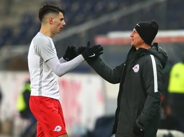 Dominik Szoboszlai und Trainer Gerhard Struber wollen auch die Hürde Porto nehmen