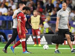Mohamed Salah verletzte sich im Finale gegen Real Madrid an der Schulter