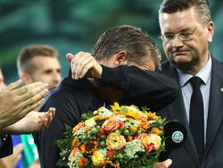 Bastian Schweinsteiger musste mit den Tränen kämpfen