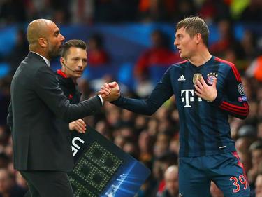 Pep Guardiola und Toni Kroos 2014 bei den Bayern