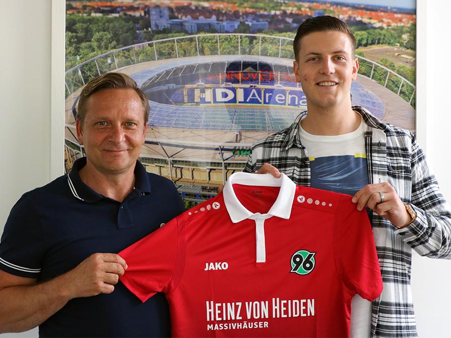 Wimmer schließt sich Hannover 96 an (Bildquelle: Twitter @Hannover96)